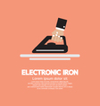 Electronic Iron In Hand vector image
