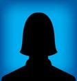 female profile picture vector image vector image