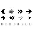 flat design arrow icons vector image vector image