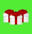 gift in a box with a red bow vector image vector image