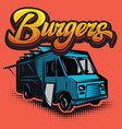 good burger car fast food truck vector image vector image
