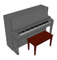 gray piano on white background vector image vector image