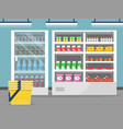 grocery store showcase shop food store inside the vector image