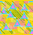 hand drawn seamless colorful pattern freehand vector image