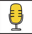 handdrawn microphone doodle icon vector image