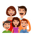 happy large family portrait people parents and vector image
