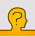 human head with question vector image vector image