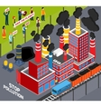 Humans Against Industrial Pollution vector image vector image