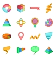 Infographic design icons set cartoon style vector image