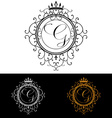letter g luxury logo template flourishes vector image