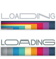 Loading bars vector image