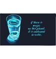 magic fantasy glass water vector image vector image