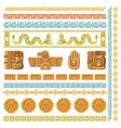 maya civilization graphics patterns aztec vector image vector image