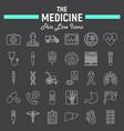 medicine line icon set medical symbols collection vector image vector image