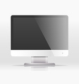 Modern lcd monitor template Paste your content vector image