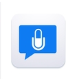 modern microphone icon in bubble speech vector image