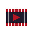 movie film strip icon play button vector image