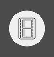 movie strip icon sign symbol vector image vector image