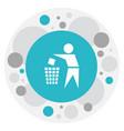 of cleanup symbol on trash bin vector image