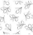 olives branch pattern on white background vector image
