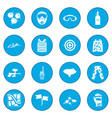 paintball game icon blue vector image vector image