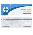 Plane ticket design Plane ticket Blank vector image vector image