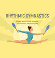 rhythmic gymnastics jump concept banner flat vector image vector image