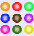 Scanned finger Icon sign Big set of colorful vector image vector image