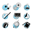 Science linear icons set school lessons vector image