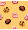 Seamless background pattern Delicious dessert vector image vector image