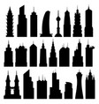 set of black skyscrapers vector image vector image