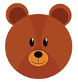 simple cartoon bear on white background vector image