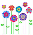 spring flowers background with space for a text vector image vector image