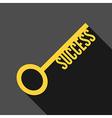 Success key long shadow vector image