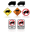 Truck signs vector image vector image