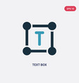 two color text box icon from user interface vector image vector image