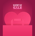 valentines day sale romantic pink design vector image vector image