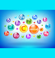 vitamin and mineral complex colorful bubbles vector image vector image