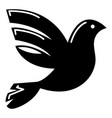 white peace pigeon icon simple style vector image vector image
