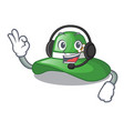 with headphone beach hat in the mascot closet vector image vector image