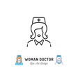 woman doctor icon medical staff nurse icons vector image