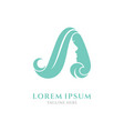 woman letter a logo vector image vector image