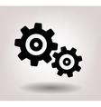 black gearwheel mechanism vector image