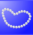 white pearl necklace vector image