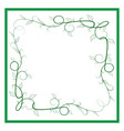 frame of green twig card vector image