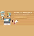 workplace management banner vector image