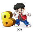 A letter B for boy vector image vector image