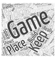 A Video Game Environment of Your Own Word Cloud vector image vector image