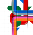 Abstract colors on a white vector image vector image