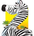 animal alphabet zebra vector image vector image